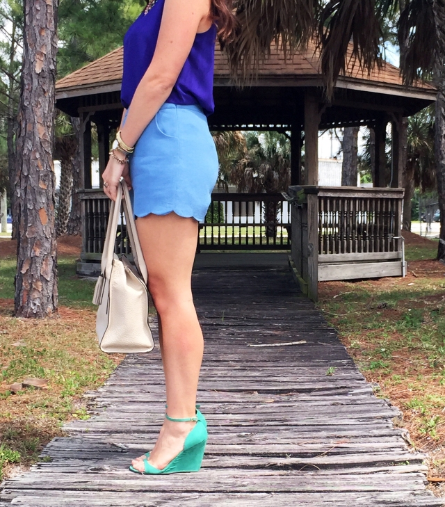 5 blue shorts | three wishes style