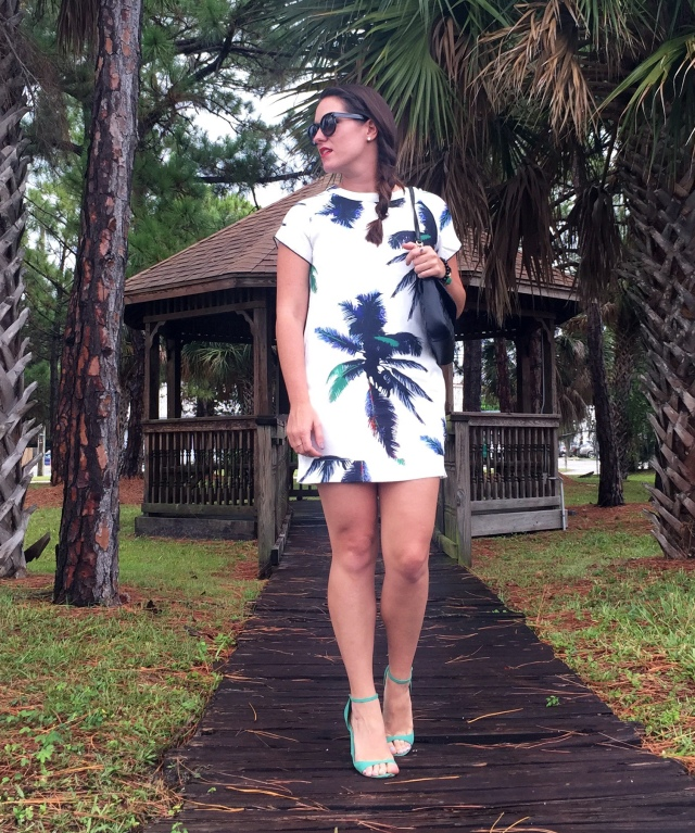 7palm tree dress | three wishes style