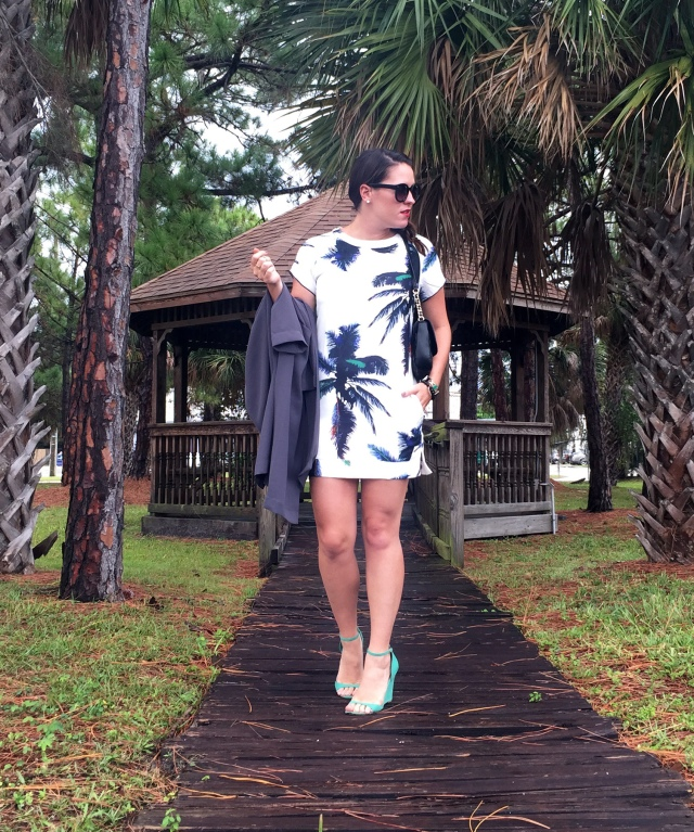 8palm tree dress | three wishes style