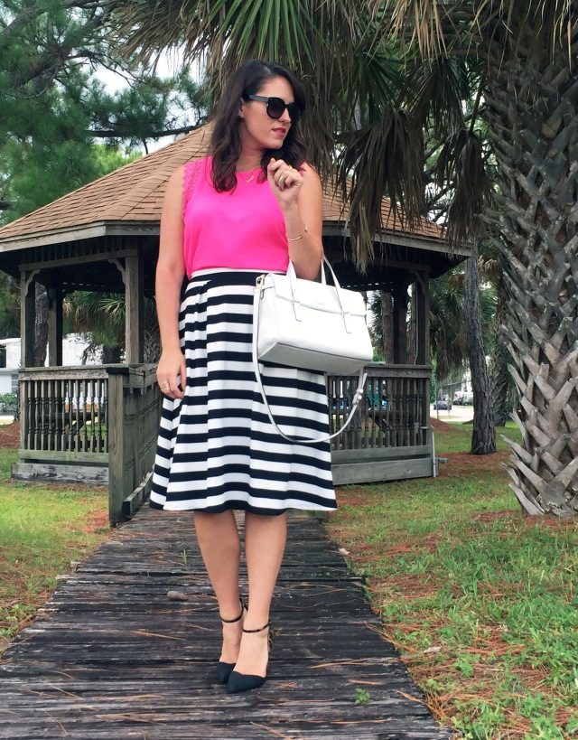 10 pink black and white stripes | three wishes style
