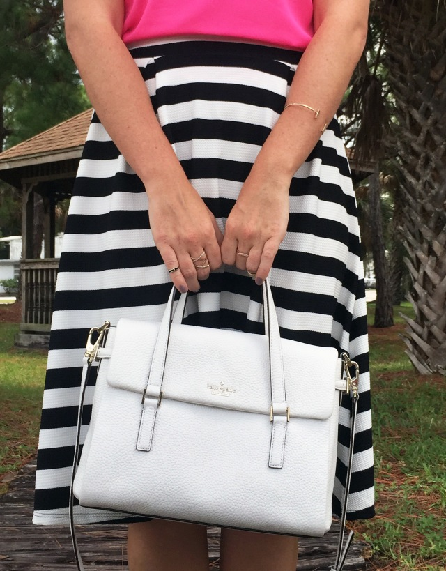 11 pink black and white stripes | three wishes style