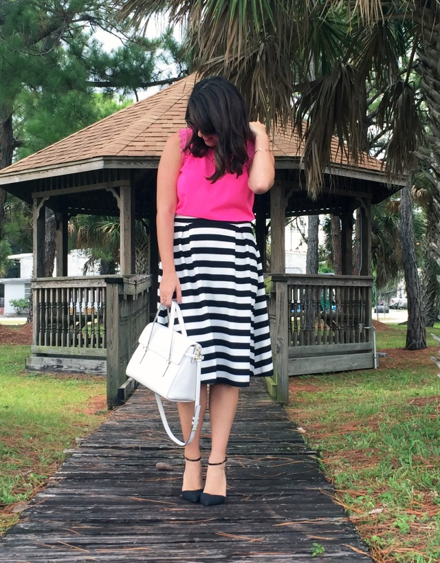 3 pink black and white stripes | three wishes style