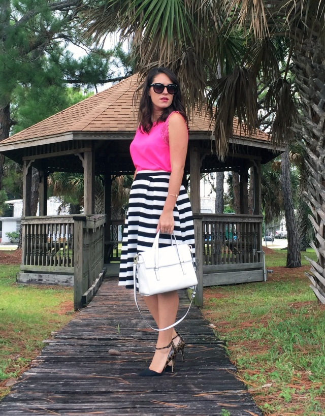 5 pink black and white stripes | three wishes style