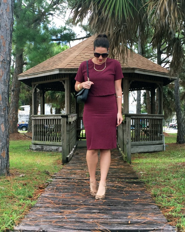 1 maroon dress | three wishes style