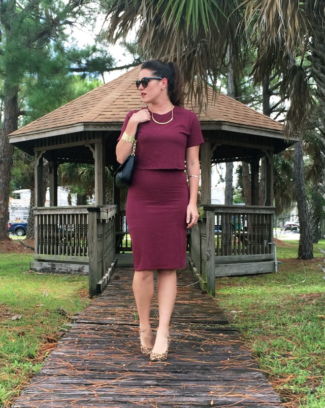 2 maroon dress | three wishes style
