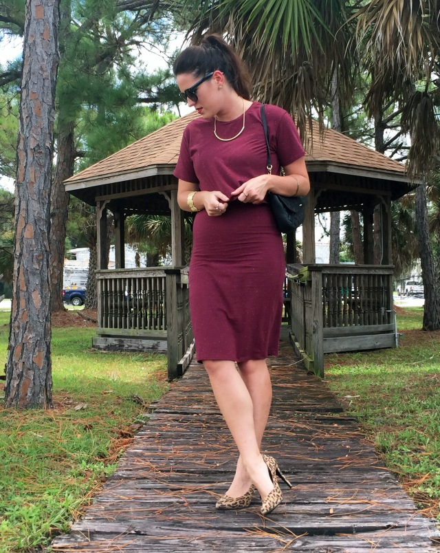 7 maroon dress | three wishes style