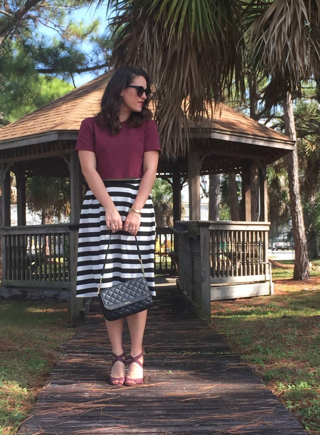 2 maroon N stripes | three wishes style