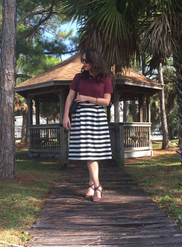 3 maroon N stripes | three wishes style