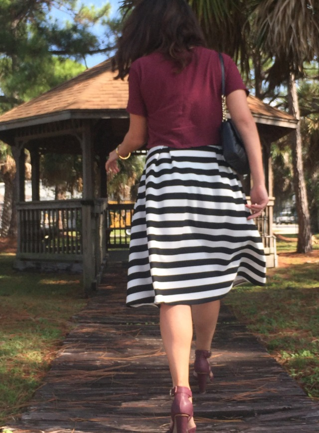 6 maroon N stripes | three wishes style