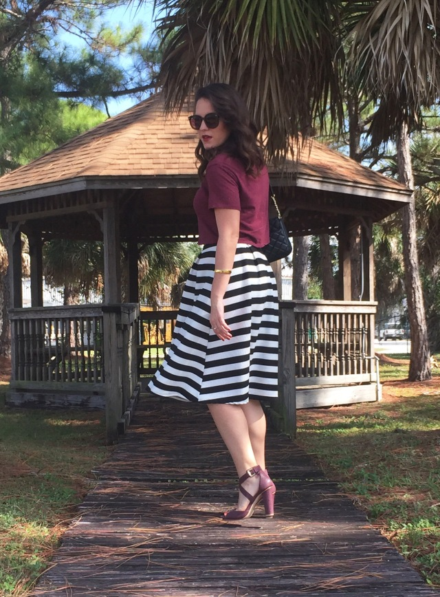 7 maroon N stripes | three wishes style