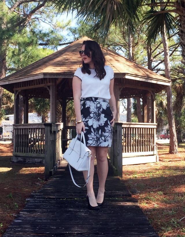 3 floral skirt
