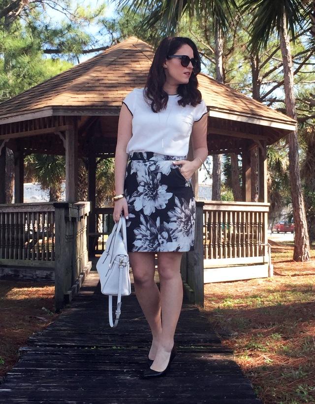 5 floral skirt
