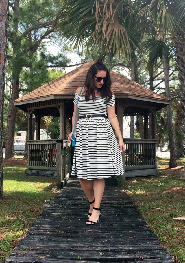 1 striped dress | three wishes style