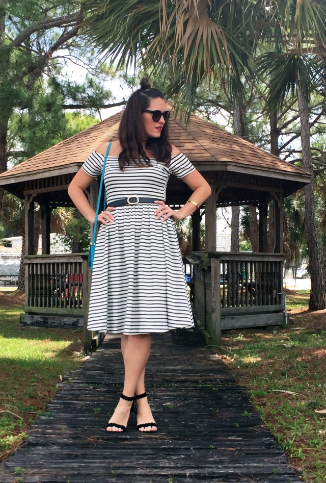 4 striped dress | three wishes style